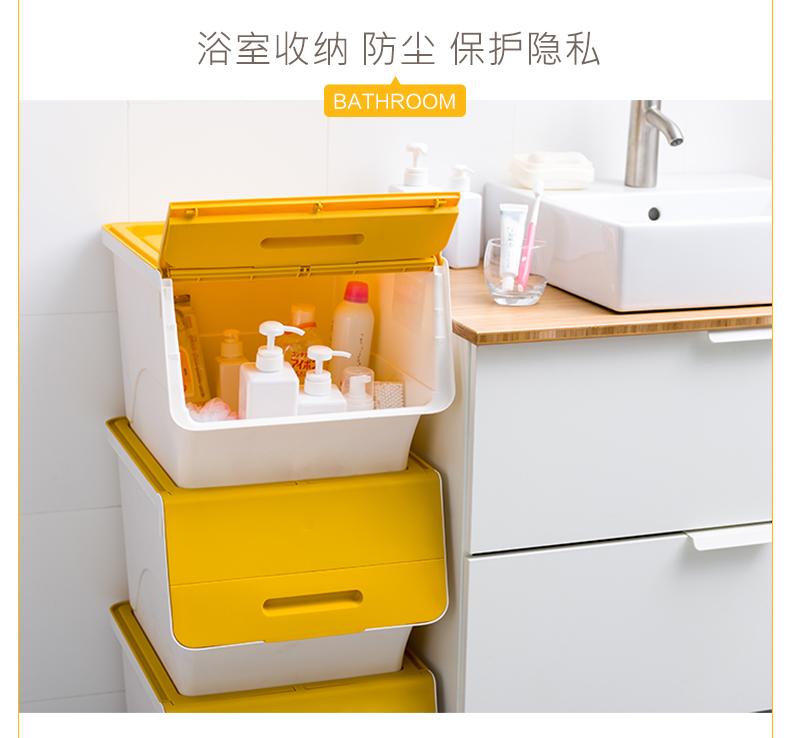 茶花收纳箱塑料衣物整理箱儿童幼儿玩具收纳箱摺迭后备箱收纳箱详细照片