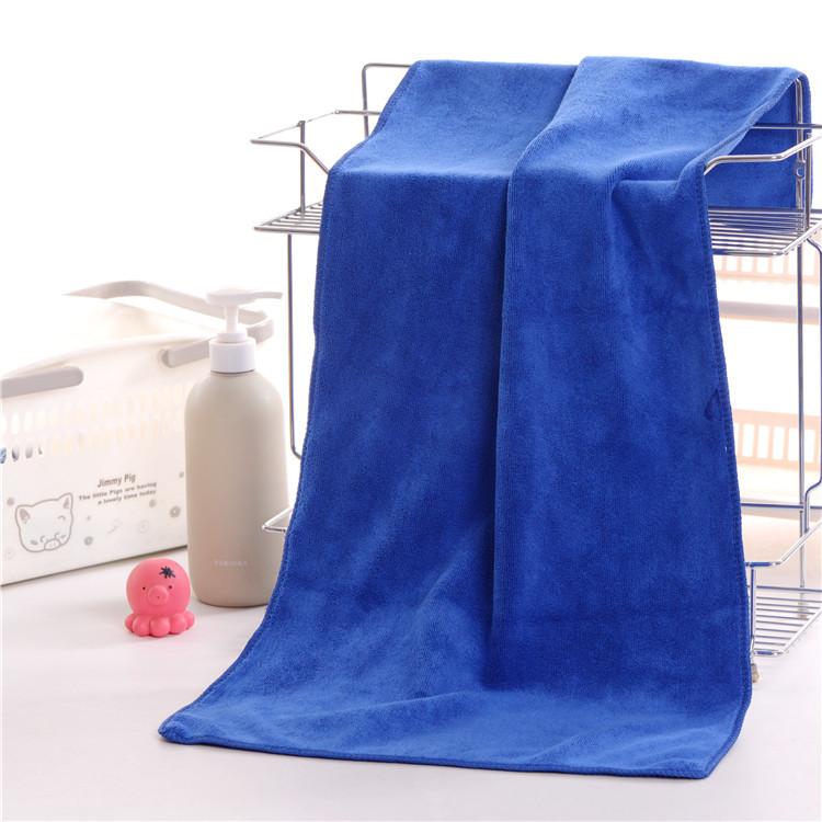 10条装毛巾美容院理发店发廊美发专用蓝色吸水不掉毛定制logo批發