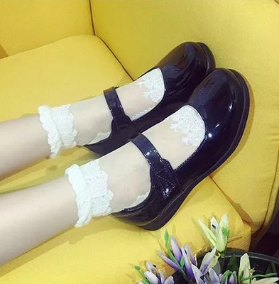taobao agent Japanese style school shoes uniform school uniform shoes maid loli round head leather shoes hell girl maid COS shoes daily