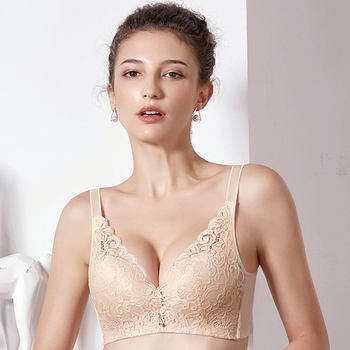 Fang snow Ni thin section no rims bra collection Furu gather underwear sexy female X61827 adjustable cup BC