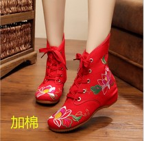 Square Dancer Boots National Wind old Beijing embroidery dance shoes yangge cloth Shoes