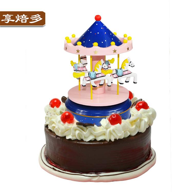 Carousel Music Box Cake Decoration Decoration Diy Creative Birthday