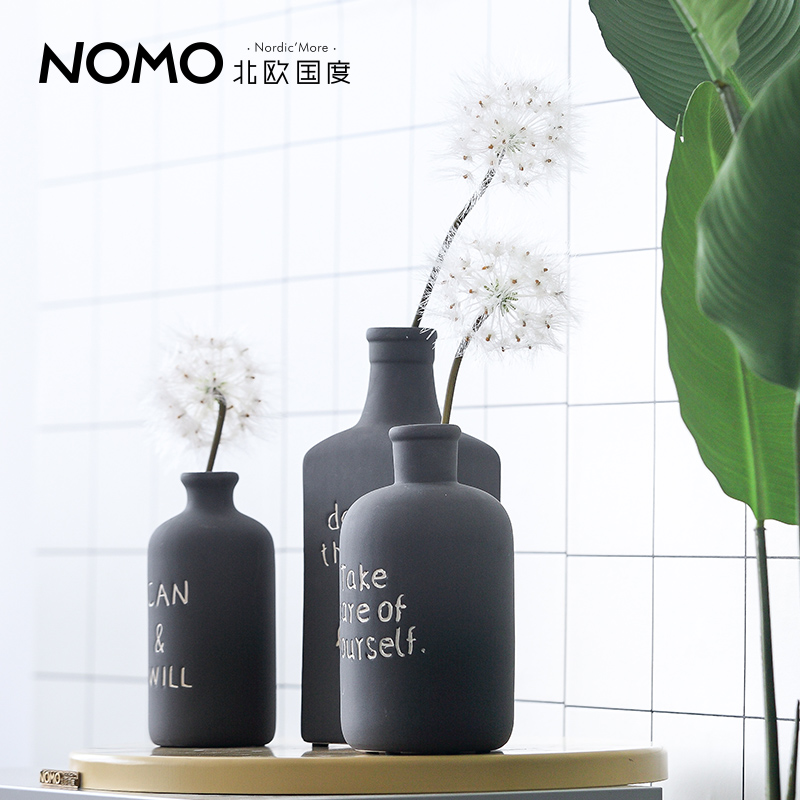 Usd 2309 The Nordic Country Of The Nordic Black Small Vase Ceramic