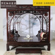 National standard mahogany Indonesia black sour shelf bed Ming and Qing classical carved