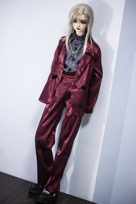 taobao agent ◆Bears◆BJD baby clothes A300 burgundy casual suit 2 points into 1/4&1/3&Uncle