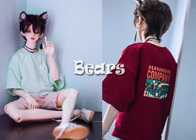 taobao agent ◆Bears◆BJD baby clothes A279 oversized loose T-shirt with back printing~2 colors into 1/4&1/3&Uncle