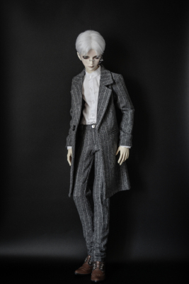 taobao agent ◆Bears◆BJD baby clothes A206 lawyer striped coat set 2 points detachable 1/4&1/3&Uncle