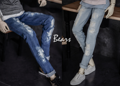 taobao agent ◆Bears◆BJD baby clothes A225 Denim trousers with holes in 2 colors Look at the description 1/4&1/3&Uncle