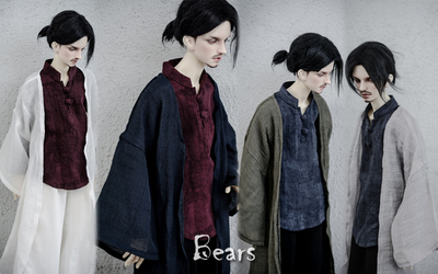 taobao agent ◆Bears◆BJD baby clothes A190 elegant thin linen long cardigan~4 colors into 1/4&1/3&Uncle