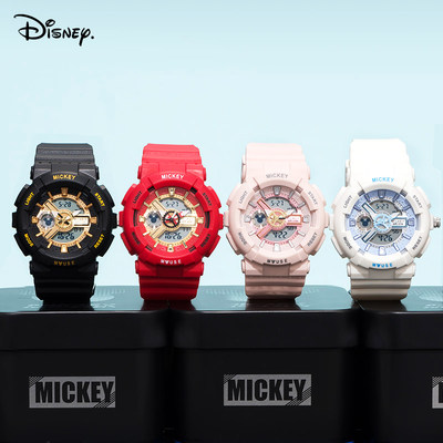 Disney children's electronic watch boy girl sports waterproof mechanical junior high school student watch male student trend