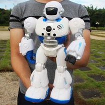 Remote control Intelligent Programming robot mechanical warfare police storytelling boys and girls early
