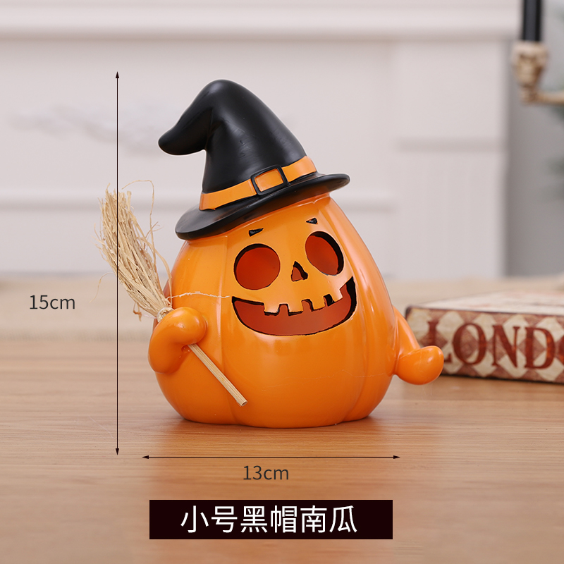 Halloween resin glowing pumpkin lamp ornaments bar KTV Ghost Festival ghost house children's storage can props