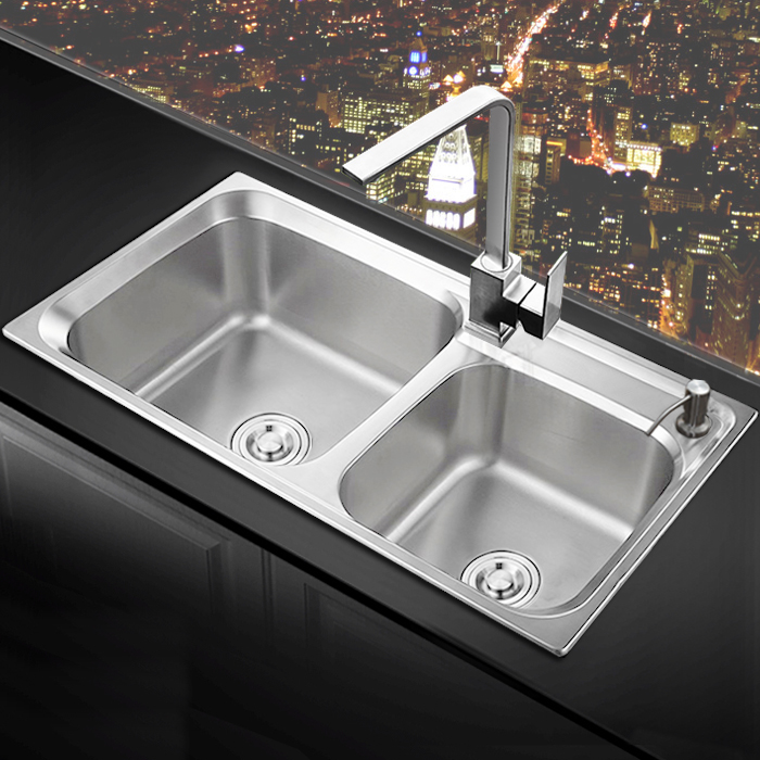 Usd 91 45 Kitchen Sink Double Slot 304 Stainless Steel Brushed Wash Basin Kitchen Basin Sink Set Sloped Sink Thickened Wholesale From China Online Shopping Buy Asian Products Online From The