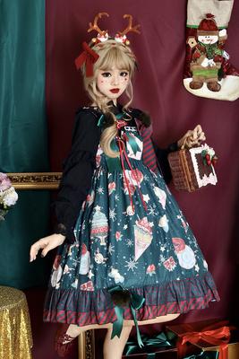 taobao agent Infanta. Lolita* Christmas donuts* JSK Lolita lace dress in stock