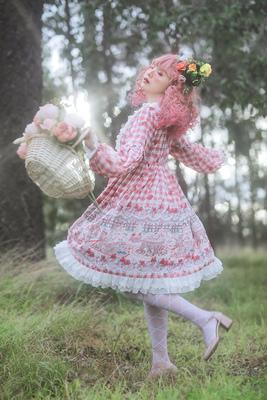 taobao agent Infanta. Infanta lolita original print * forest tea party * OP Lolita one-piece dress skirt