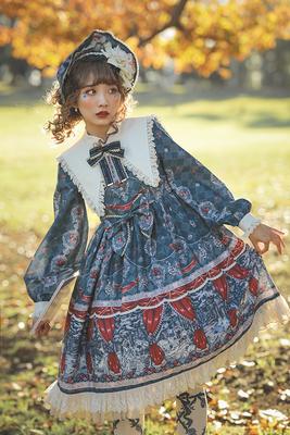 taobao agent Baby fanta lolita spot fairy tale original print snow white*poison ringo*OP long-sleeved one-piece dress