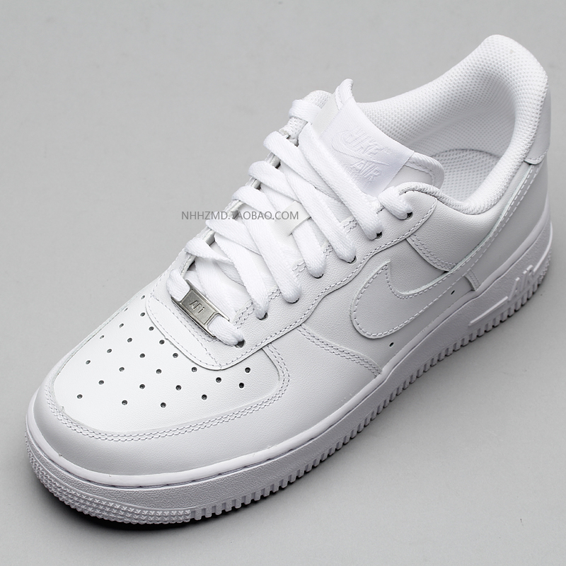 Burdock NIKE AIR FORCE 1 AF1 All White Couple Casual Shoes Sneakers 315115- 112 5f16ace57