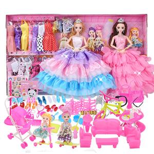 会说话唱歌芭比娃娃套装女孩公主送108赠品芭比娃娃