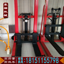 Oil drum handling car manual hydraulic lifting car stacker stacking fork