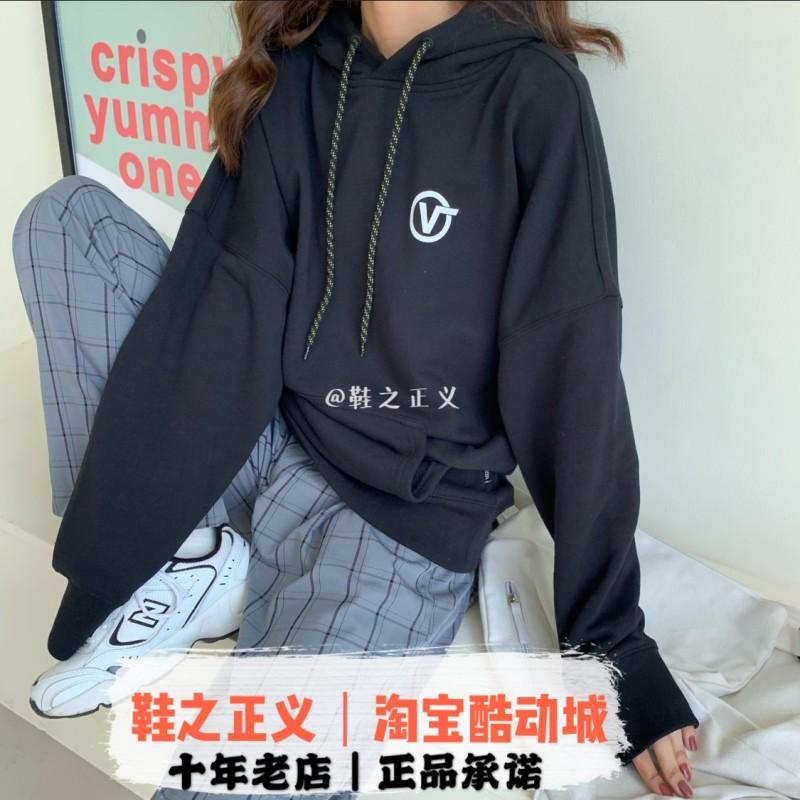 Người hâm mộ VANS Áo tối giản tối giản Nhật Bản trùm đầu áo len nữ phức tạp xu hướng thời trang nam VN0A4BP7BLK - Thể thao lông cừu / jumper