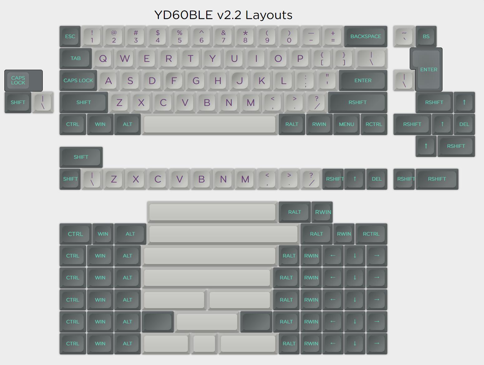 YDKB YD60BLE v2 2 60% Bluetooth Dual-Mode customized