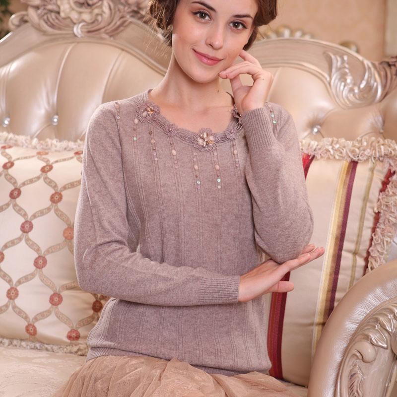 正品包邮特价七彩玫瑰粉红玛丽新款蕾丝女装 长袖套头甜美毛衣