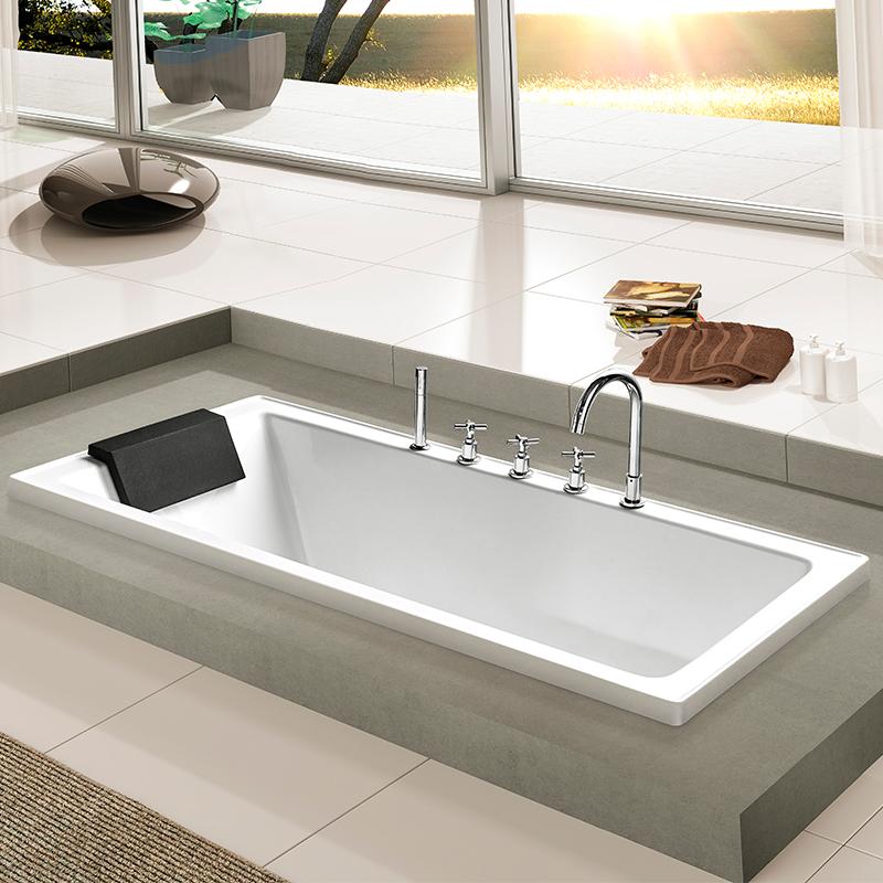 USD 611.12] Keze embedded bathtub home adult acrylic 1 4-1 7 m ...