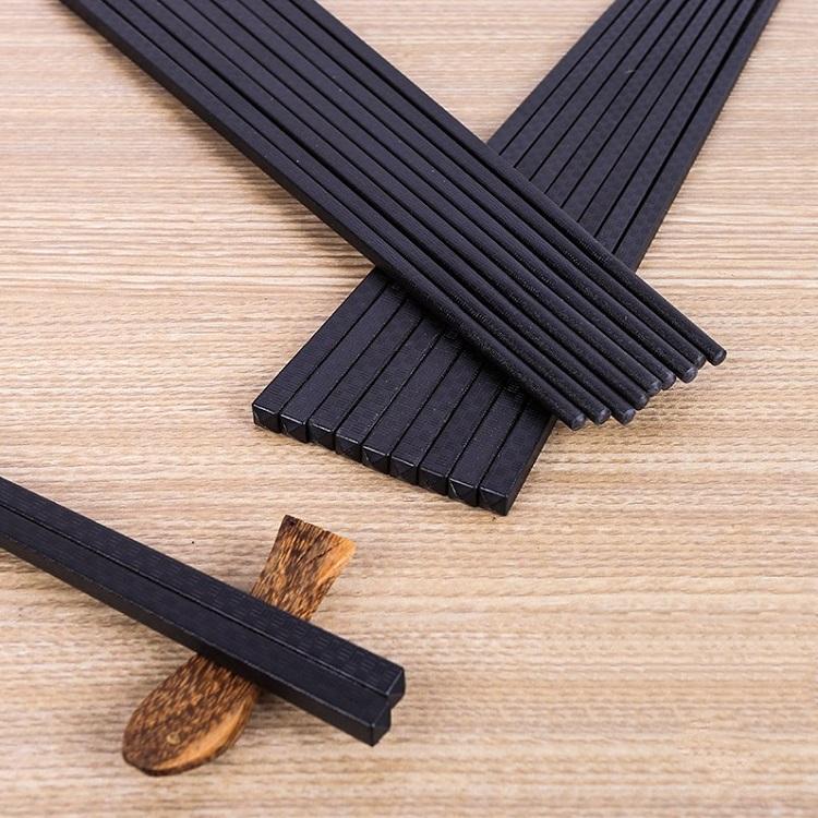 合金筷子高档家用家庭套装10双装耐高温酒店快子防霉防滑抗菌公筷