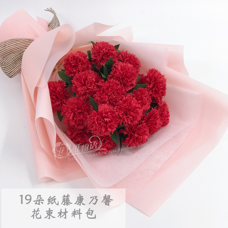 Usd 1688 19 paper vine carnation bouquet material package paper 19 paper vine carnation bouquet material package paper flower diy handmade fold paper mother teachers day mightylinksfo