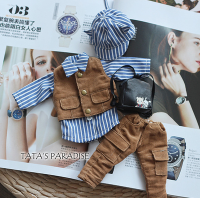 taobao agent 6 points BJD.YOSD baby clothes shirt overalls vest【Daily life of cat ear boy】Package free shipping
