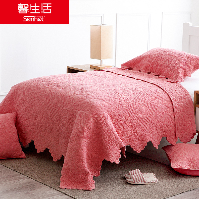 Girls pink children quilts spring and autumn kindergarten nap two sets of autumn and winter air conditioning quilts skin cover is