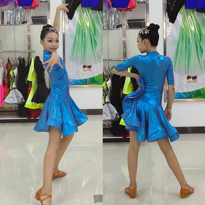 Girls Latin Dance Dresses Latin Dance Competition for Children