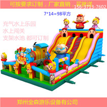 Childrens trampoline inflatable Castle outdoor Large naughty Fort Slide Park