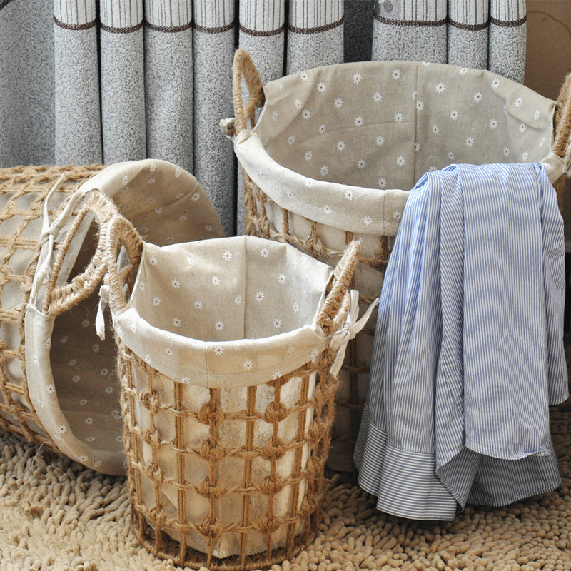 Large Storage Basket Fashion Toys Dirty Clothes Past Rattan Simple Laundry