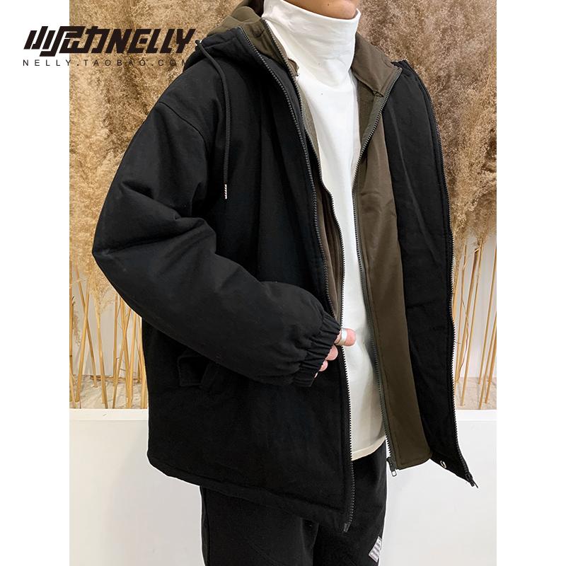 Áo khoác cotton mùa đông nam áo khoác cotton Hàn Quốc áo khoác cotton giản dị áo khoác dày xu hướng áo khoác oversize nam và nữ - Trang phục Couple