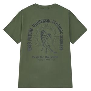 美式夏新款ins潮牌暗黑丧系卡通印花短袖T恤男女嘻哈宽松情侣体恤
