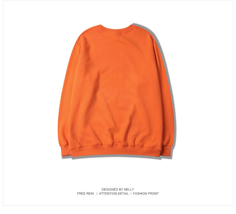 2018 mùa thu sinh viên đơn giản mô hình màu rắn áo len hoang dã nam giới và phụ nữ orange tide thương hiệu lỏng áo khoác mùa thu