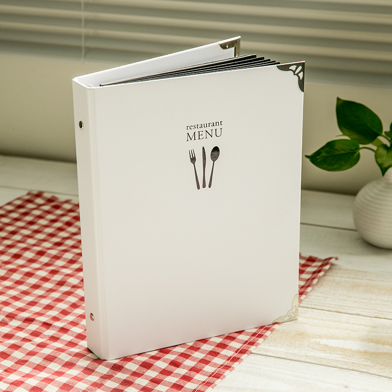 usd 14 26 9 hole waterproof white diy menu knife and fork cover