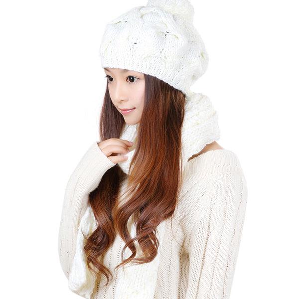 комплекты шапка+шарф женские