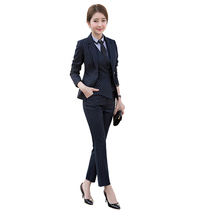 0d80a355e5 New temperament professional suit slim business hotel manager work clothes  OL
