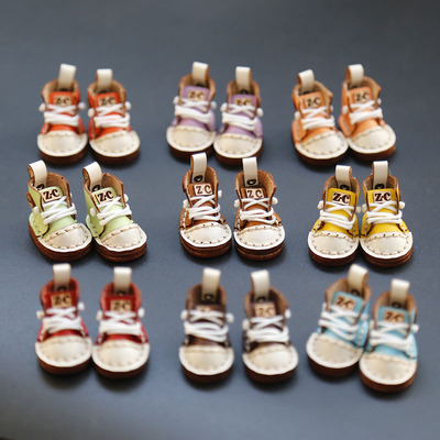 taobao agent ob11 high-waist sneakers GSC YMY DDF BODY 9 little trouble handmade leather high-top casual shoes
