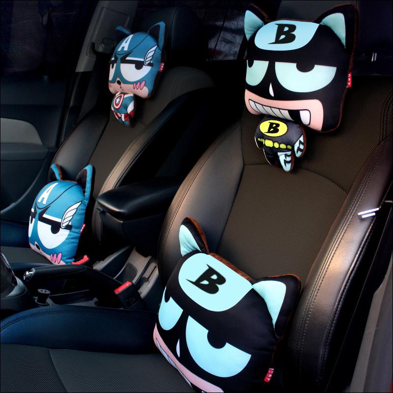 头枕枕头靠汽车护颈枕车子枕卡通子车用车载小车个性座椅可爱创意