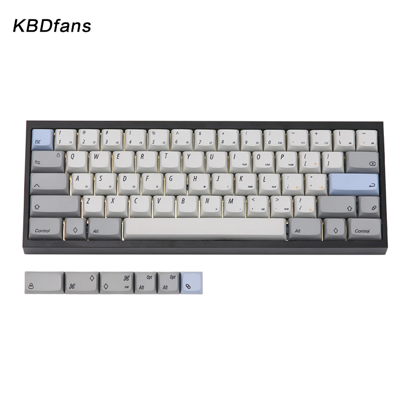 Spot KBDfans xda gray height keycap pbt material diagonal font 60% 65% hot  sublimation keycap