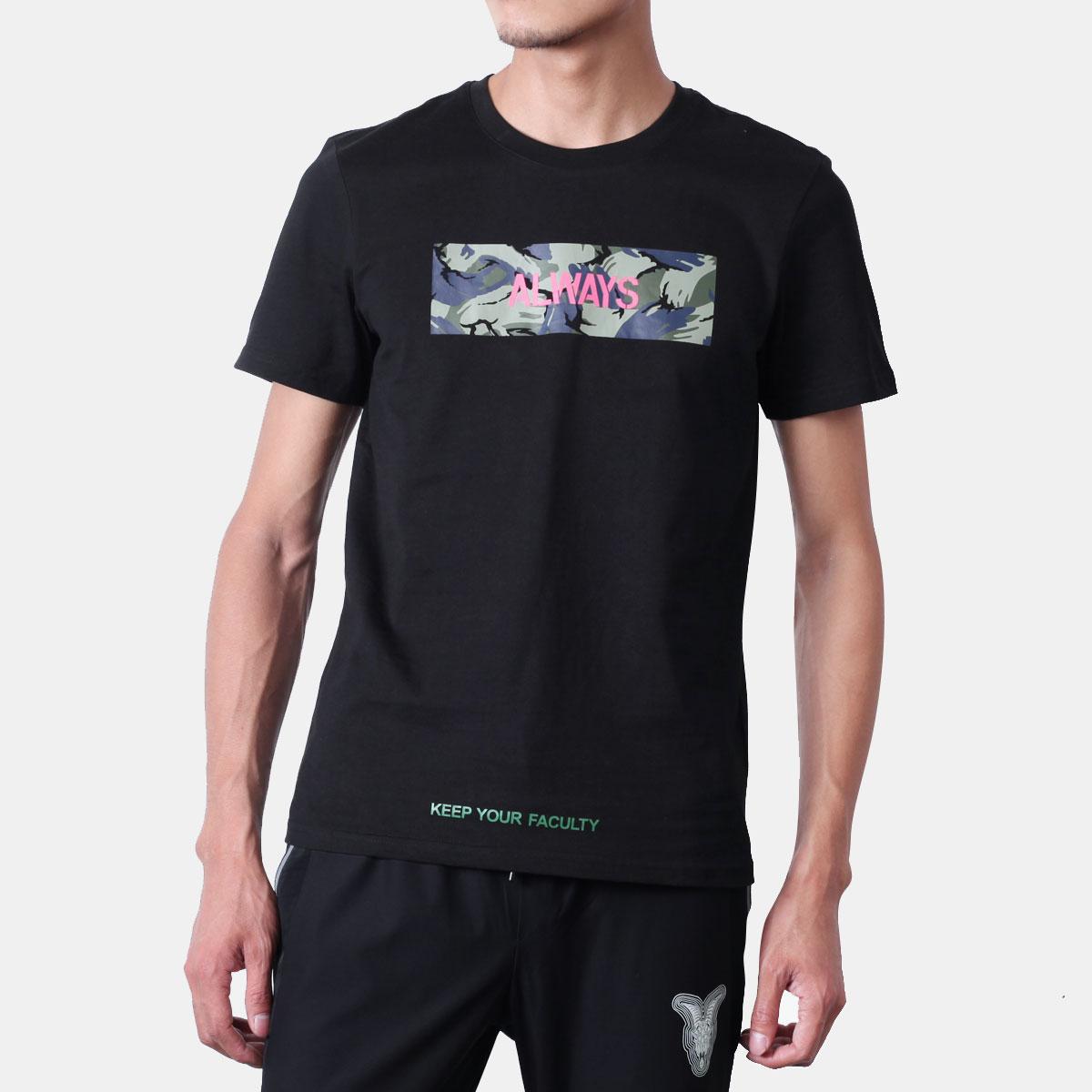 夏装短袖T恤男百搭帅气印花青年纯棉新款上衣韩版潮流半袖体恤薄