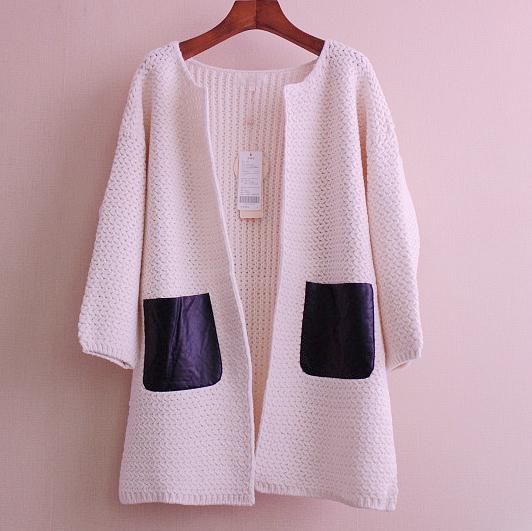 特价清仓卓宽松外套秋装韩版多姿开衫中长款长袖大码针织毛衣特价
