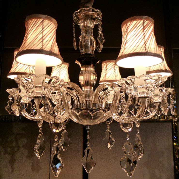 欧式水晶吊灯 新古典客厅灯餐厅灯卧室灯 白色蜡烛进口水晶管灯饰