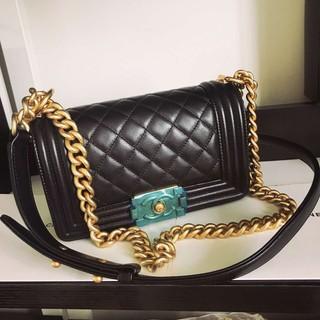 Chaenl шанель подержанный подлинный классический черный золото стеганный leboy портативный плечо сумка мисс пакет мешок, цена 307198 руб