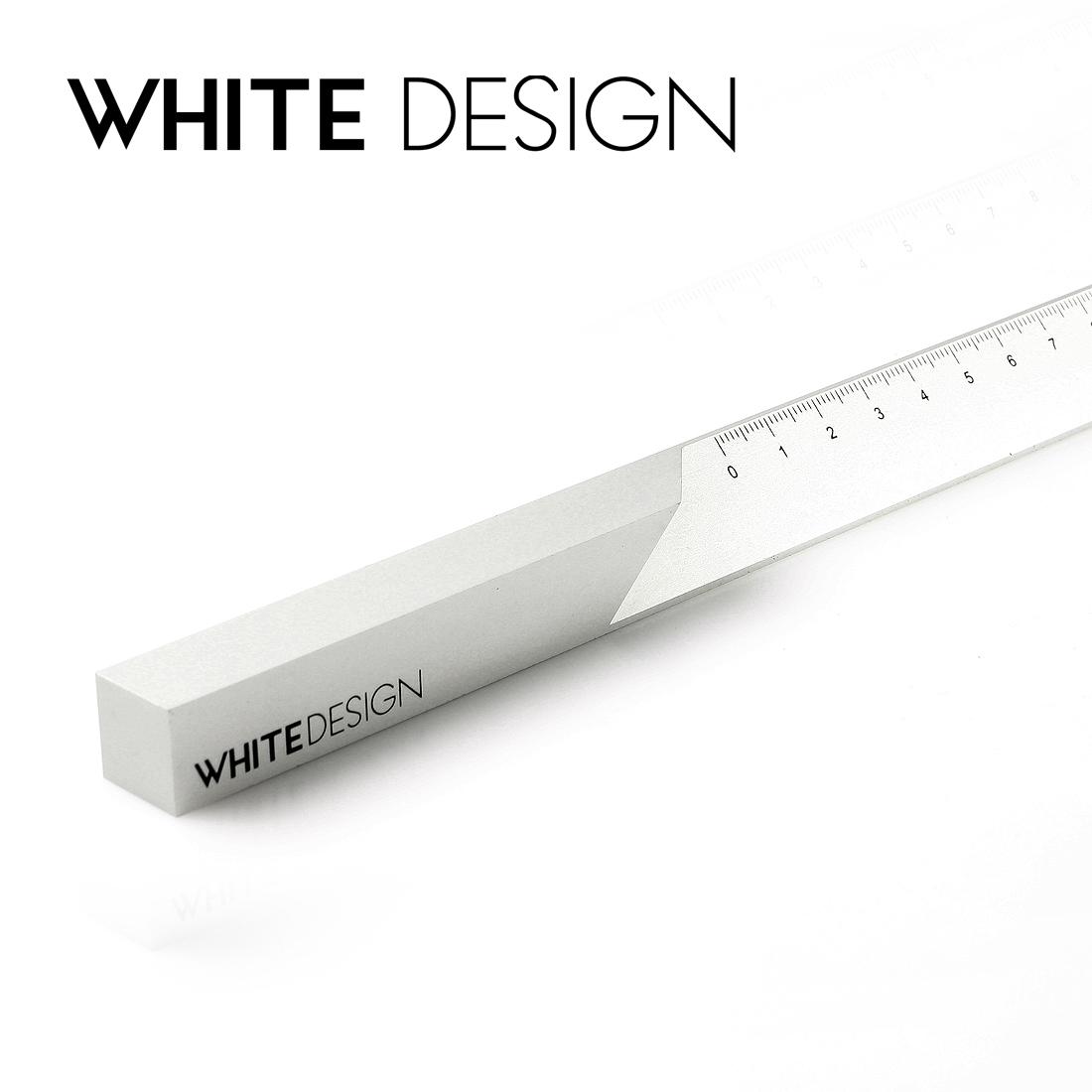 white design architectural ruler aluminum alloy creative office stationery designer metal ruler 15cm