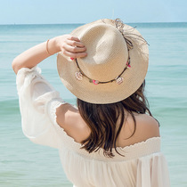 Summer Straw hat seaside excursion summer cool hat lady sun hat woman Hundred