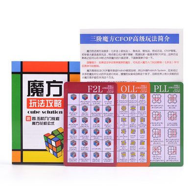 Third-order Rubik's Cube CFOP formula card 119 advanced formulas to carry with you, advanced speed screw master free shipping
